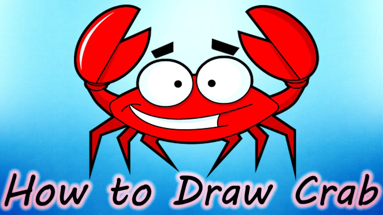 1280x720 Diy How To Draw Crab Creative Art Work Easy Drawing Steps