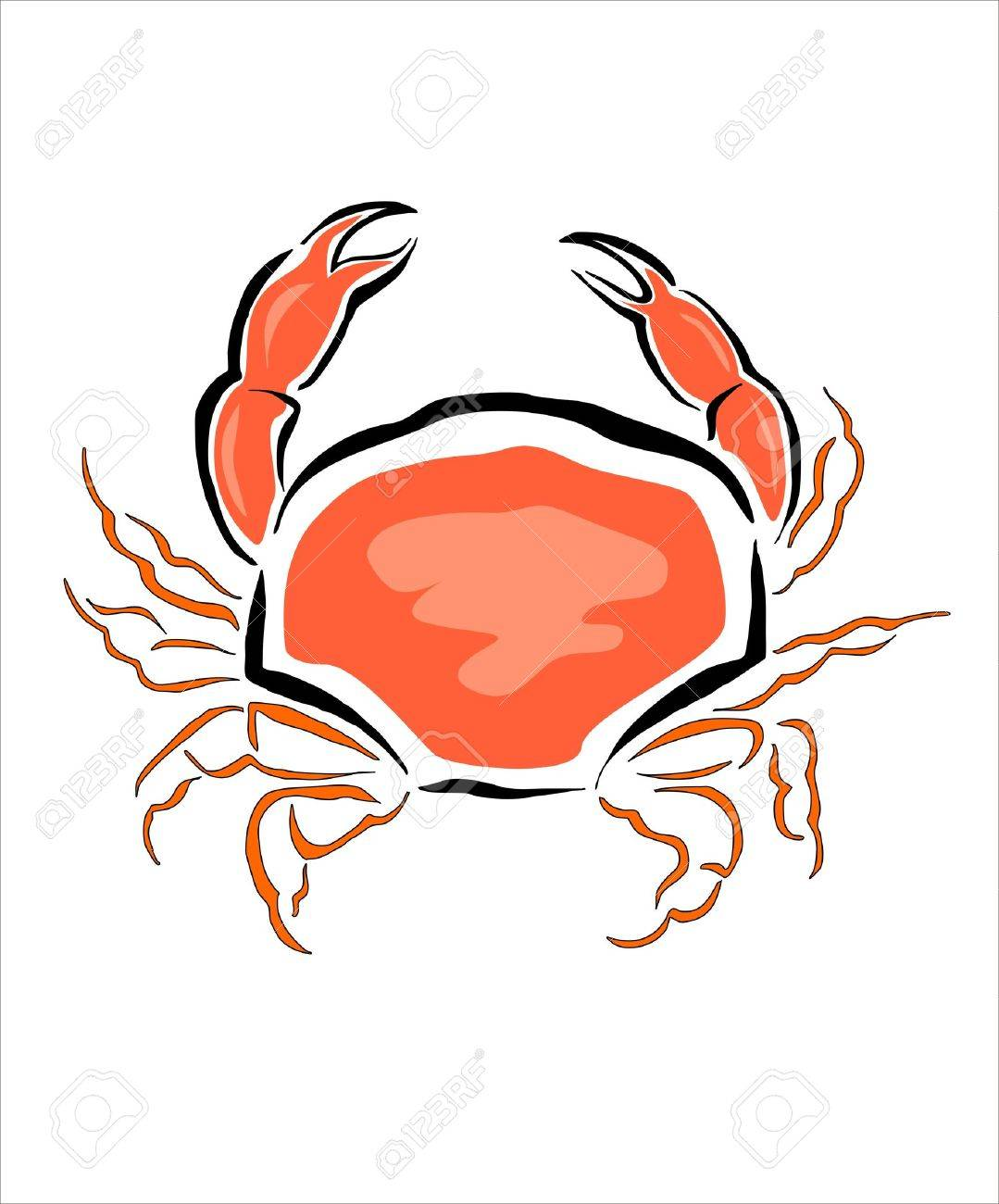 1079x1300 Drawing Of A Crab Royalty Free Cliparts, Vectors, And Stock