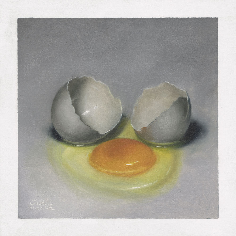 1000x1000 Cracked Egg 2 Daily Painting.jpg Cracked Egg