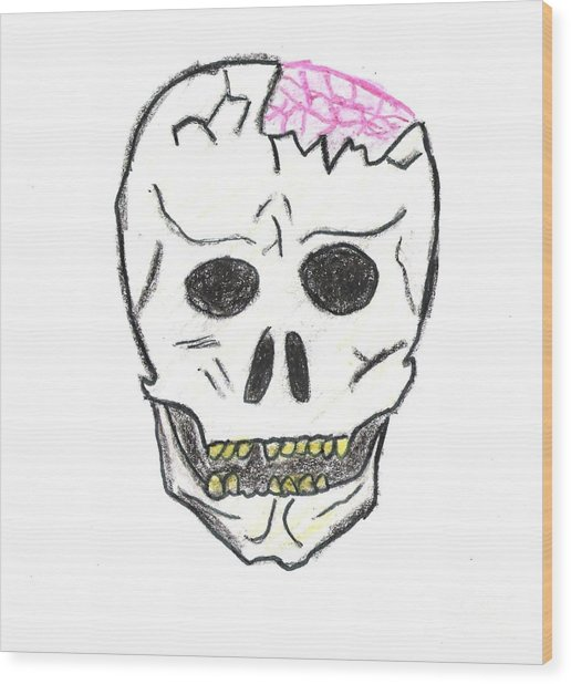 516x618 Cracked Skull Drawing By Jeannie Atwater Jordan Allen