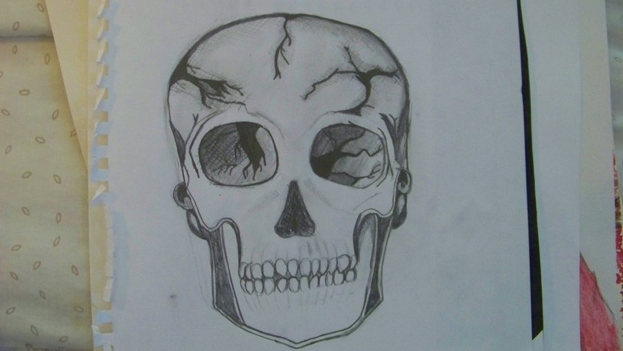 900x507 Cracked Skull By J1nchuur1k1
