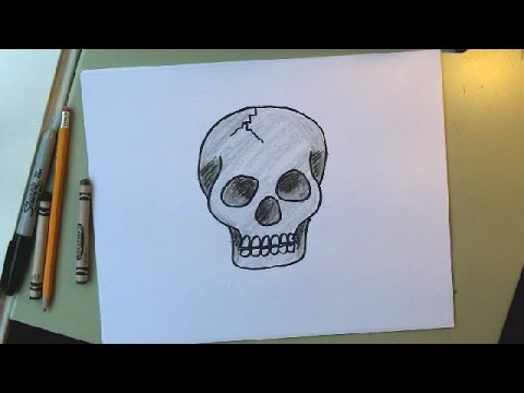 480x360 How To Draw A Skull Step By Step