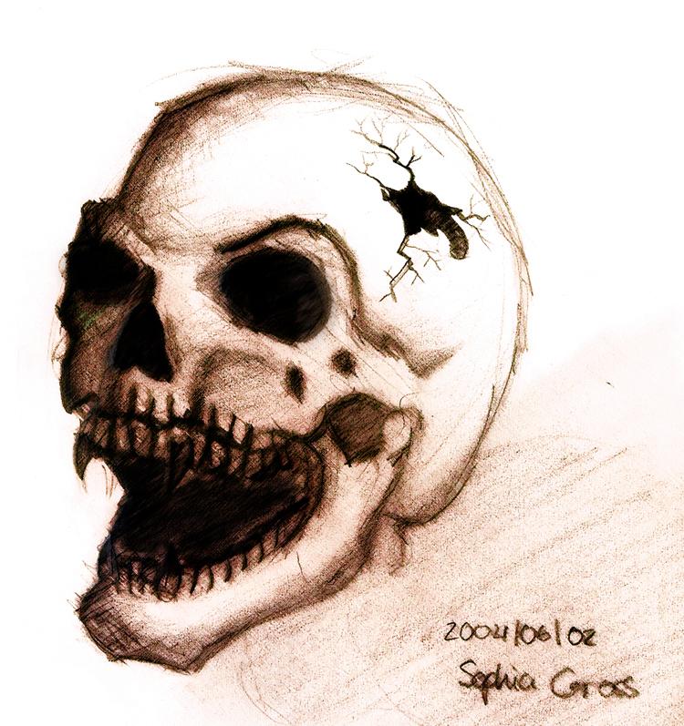 750x797 Vampire Skull By Soffl