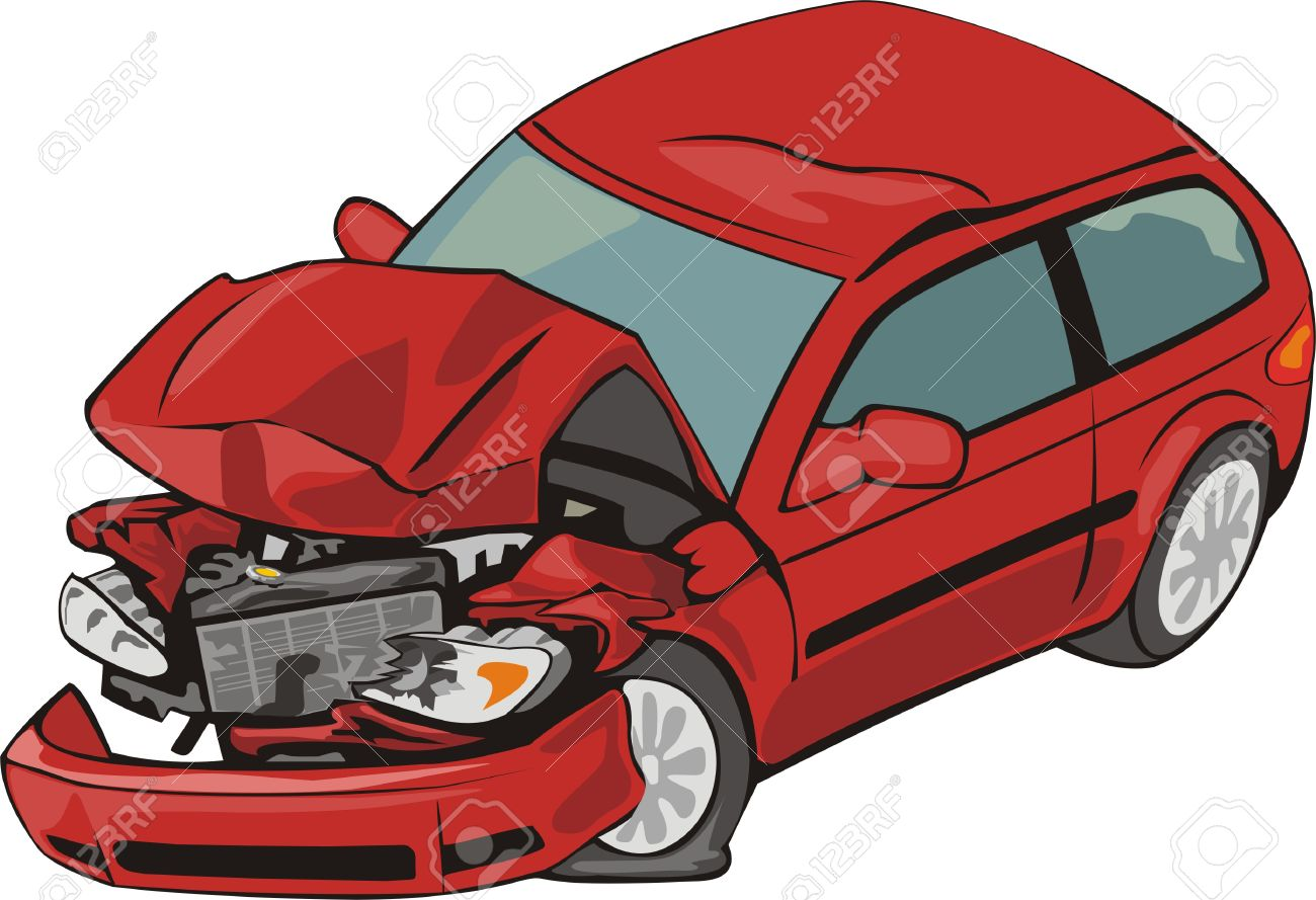 1300x889 310 Crashed Car Stock Illustrations, Cliparts And Royalty Free