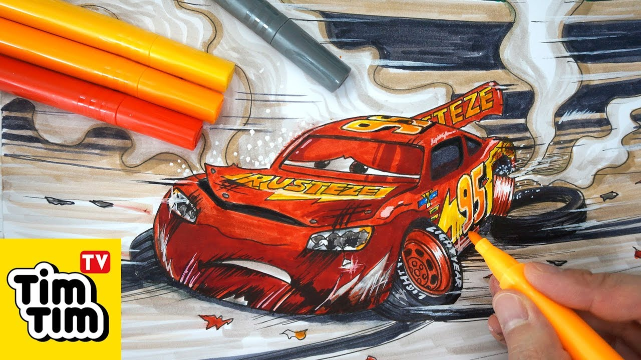 1280x720 How To Draw Cars 3 Lightning Mcqueen Crashed Badly Injured Easy