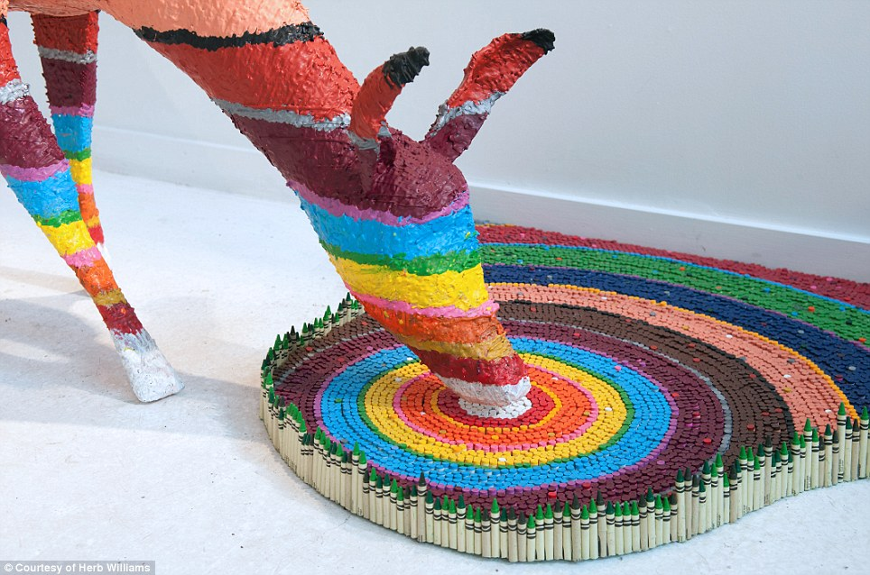 964x638 Artist Herb Williams Uses Thousands Of Crayola Crayons To Create