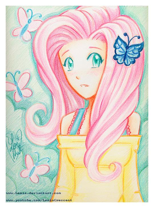 540x729 Mlp Fim Crayola Crayon Fluttershy By Lemiacrescent