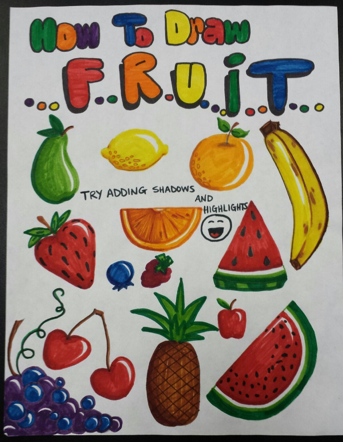 1200x1544 How To Draw Fruit With Crayola Markers ) Craftiness