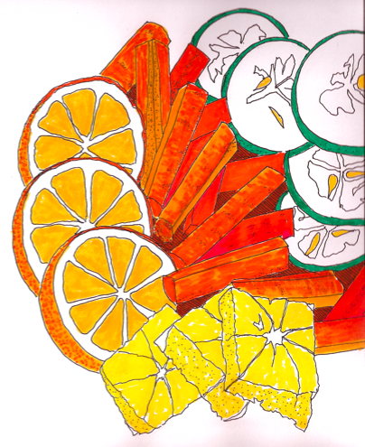 404x495 It's About Art And Design More Food Drawings With Crayola Markers