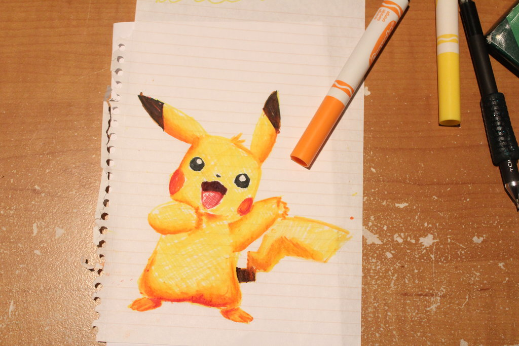 1024x683 Pikachu! Crayola Markers By Rjjr1