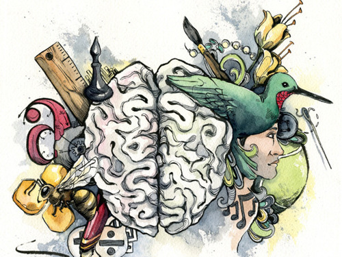 500x375 Creative Brain Shared By Marty On We Heart It