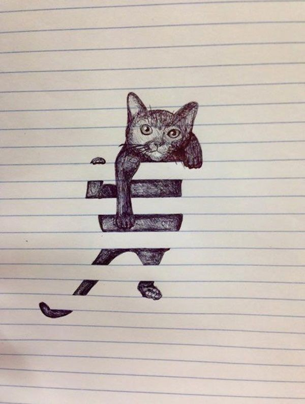 600x793 35 Cool And Creative Drawing Ideas For Teenagers Creative