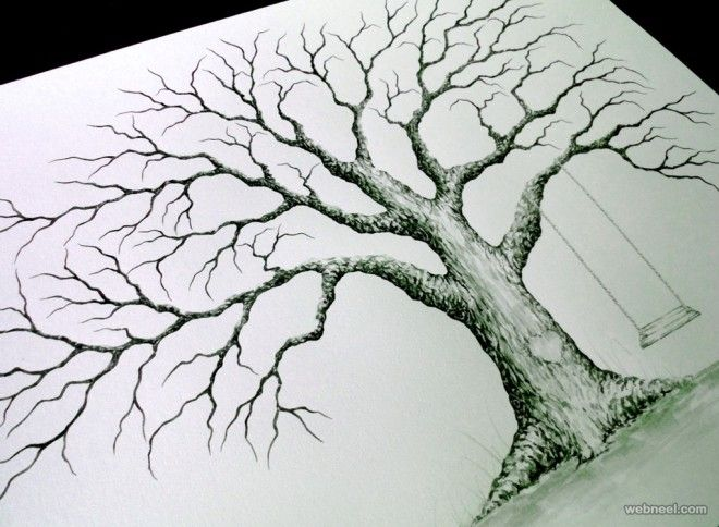 660x484 30 Beautiful Tree Drawings And Creative Art Ideas From Top Artists