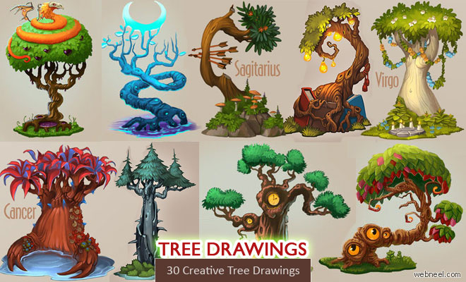 660x400 30 Beautiful Tree Drawings And Creative Art Ideas From Top Artists