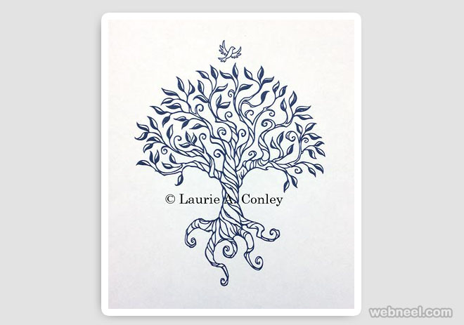 660x463 Tree Drawing By Laurie Conley 3