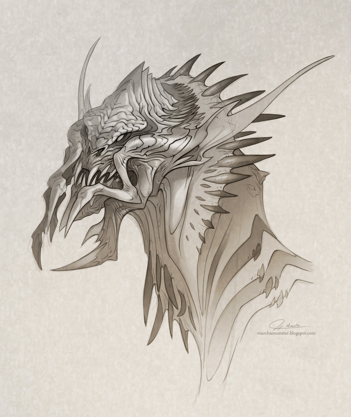 1348x1600 Another Creature Drawing The Art Of Jeff Murchie