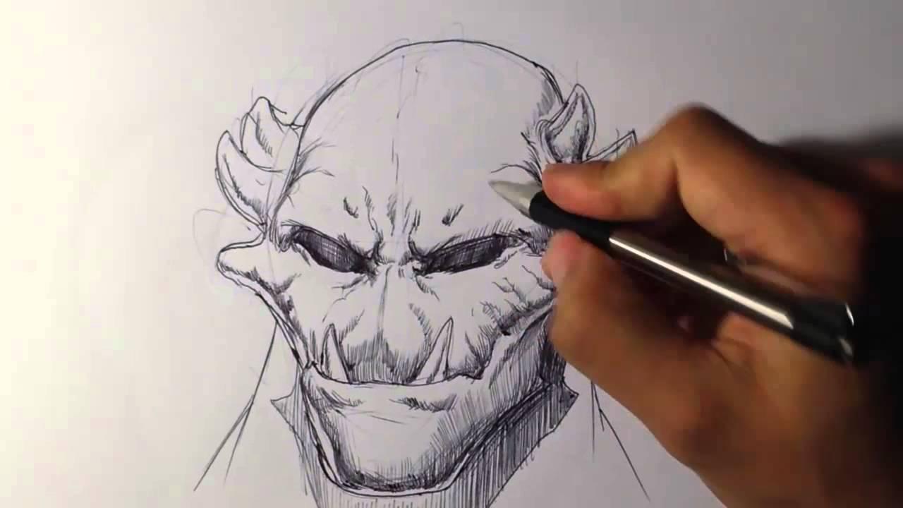 1280x720 Creature Portrait 1 Draw Fantasy Art