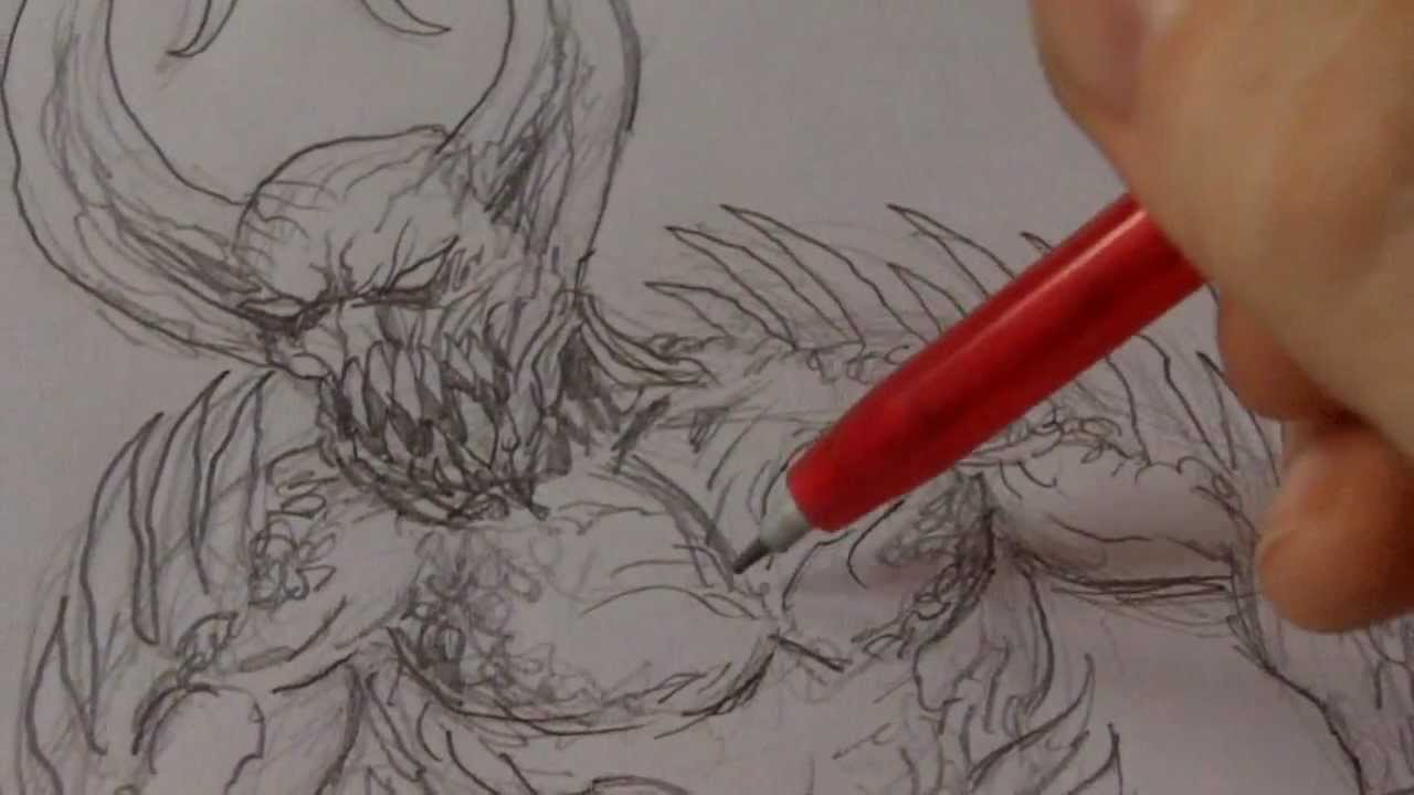 1280x720 How To Draw Fantasy Creature Whilst Possessed