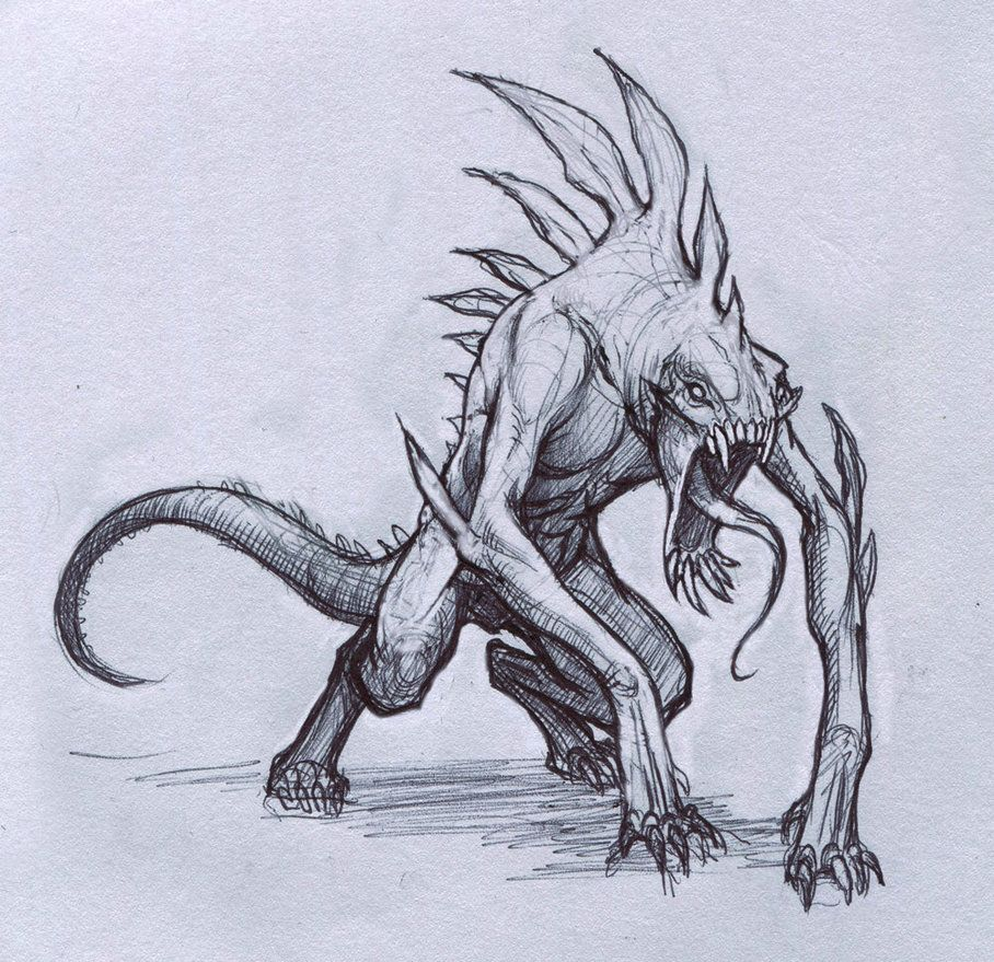 908x879 Reptile Creature By Mavros Thanatos Monster