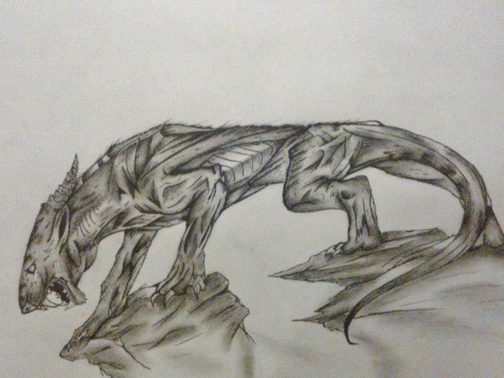 717x538 My Latest Drawing (Creature Of The Night) By Thewolfx27
