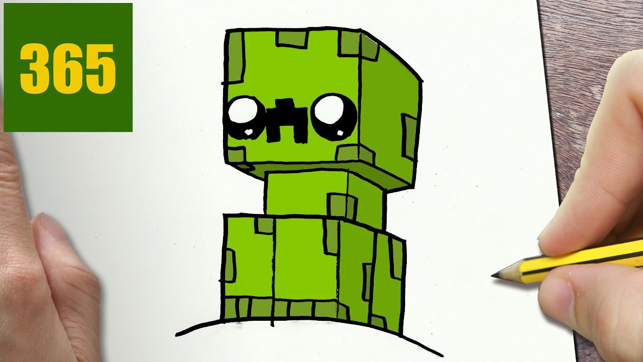 1280x720 How To Draw A Minecraft Creeper Cute, Easy Step By Step Drawing