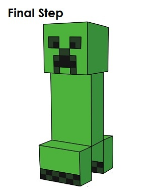 300x388 How To Draw A Creeper (Minecraft)