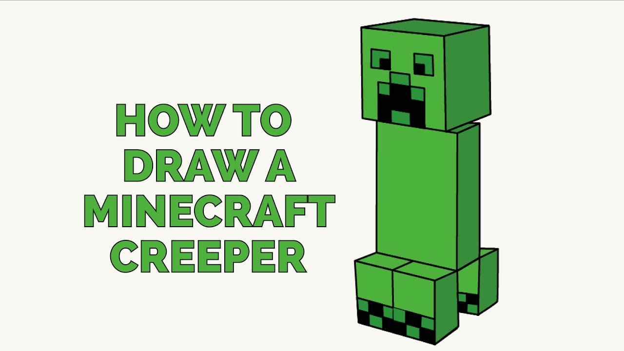 1280x720 How To Draw A Minecraft Creeper In A Few Easy Steps Drawing