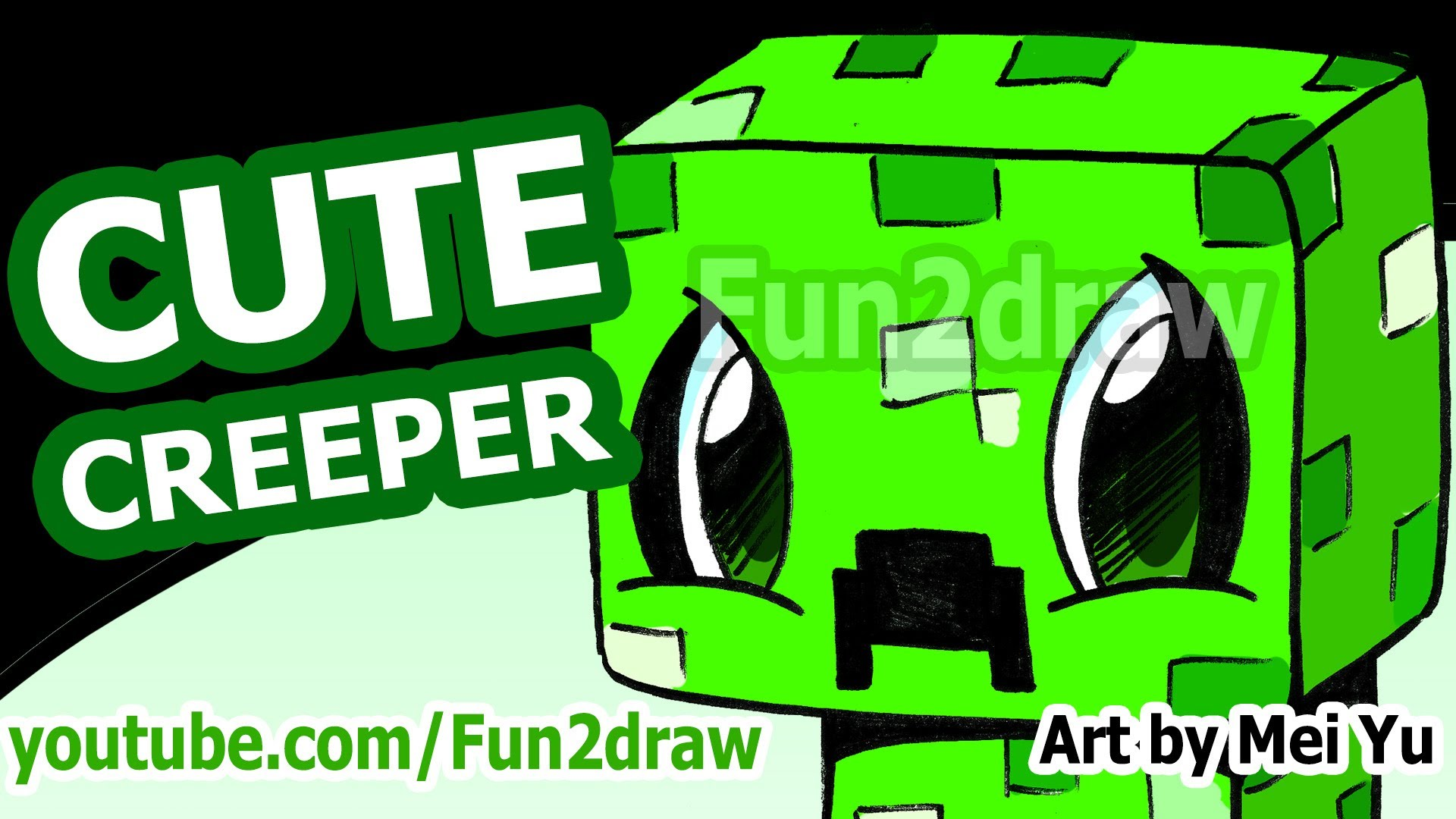 1920x1080 Cute Creeper! How To Draw A Minecraft Creeper
