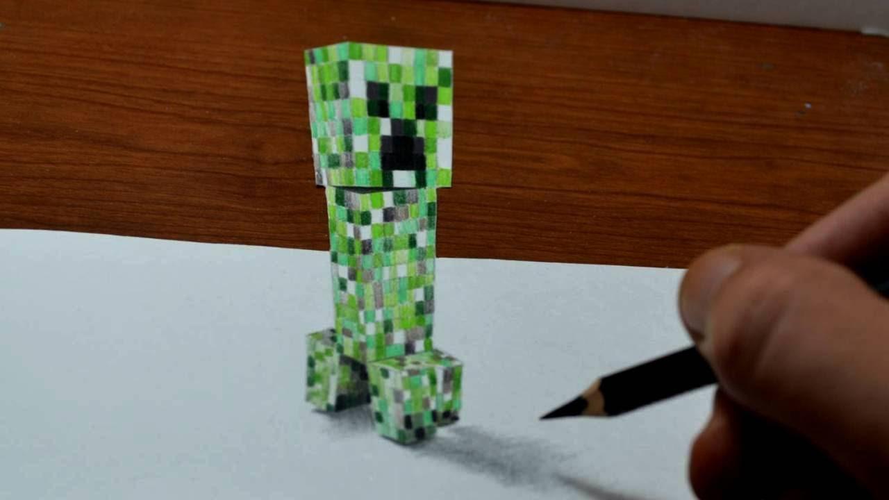 1280x720 Drawing Minecraft Creeper