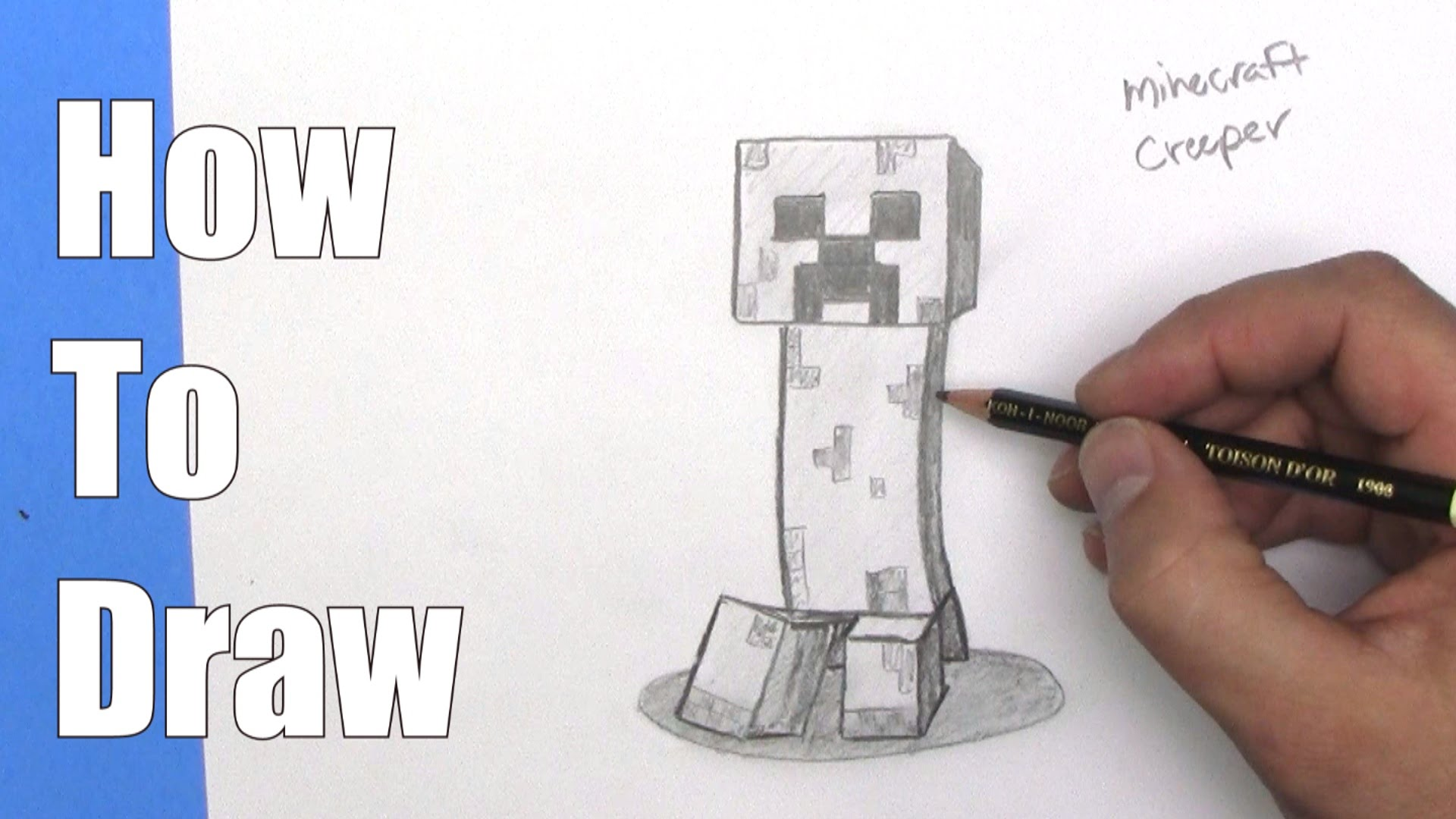 1920x1080 How To Draw A Minecraft Creeper