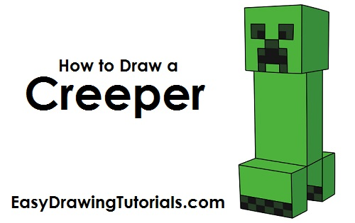500x315 How To Draw A Creeper Drawing Creepers, Cartoon