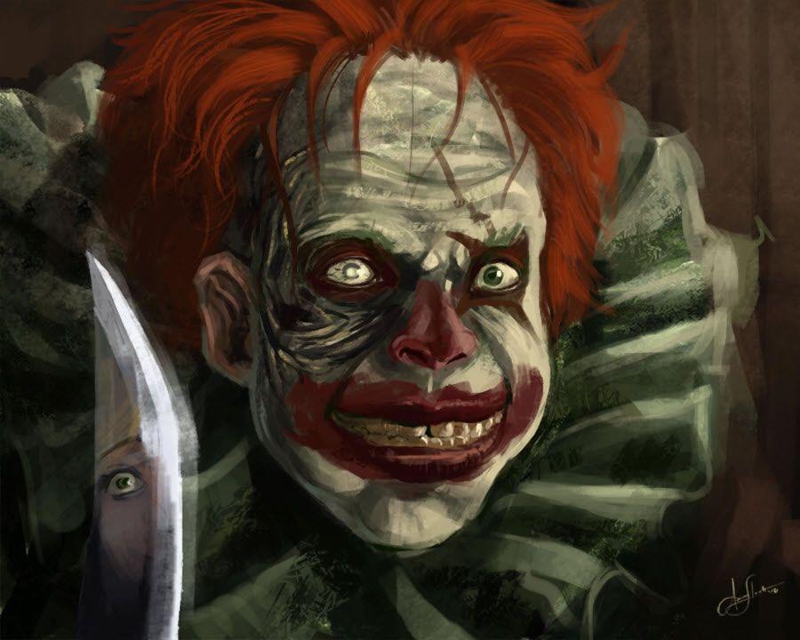 900x720 Evil Clown