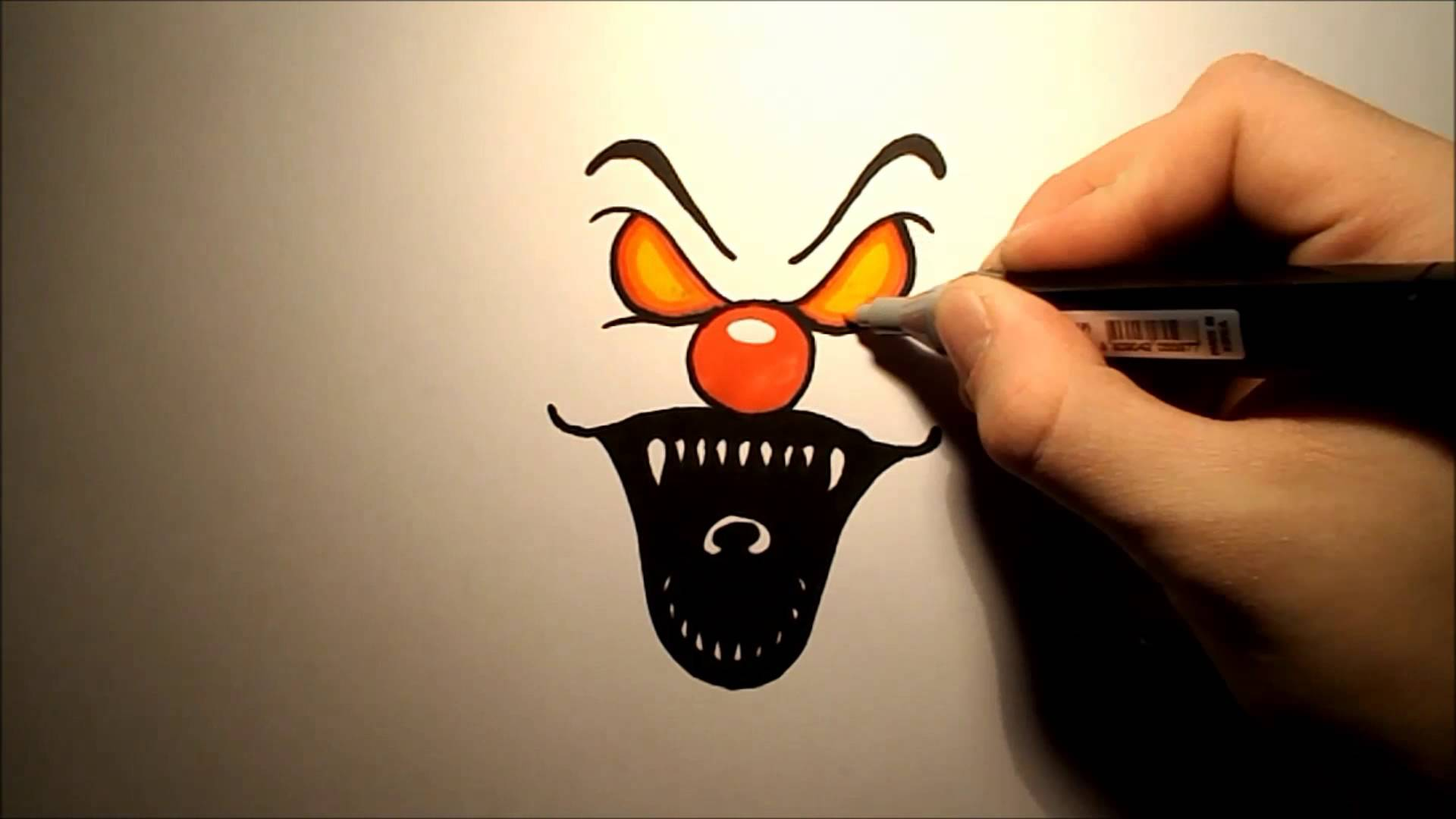 1920x1080 How To Draw An Evil Clown (Easy)