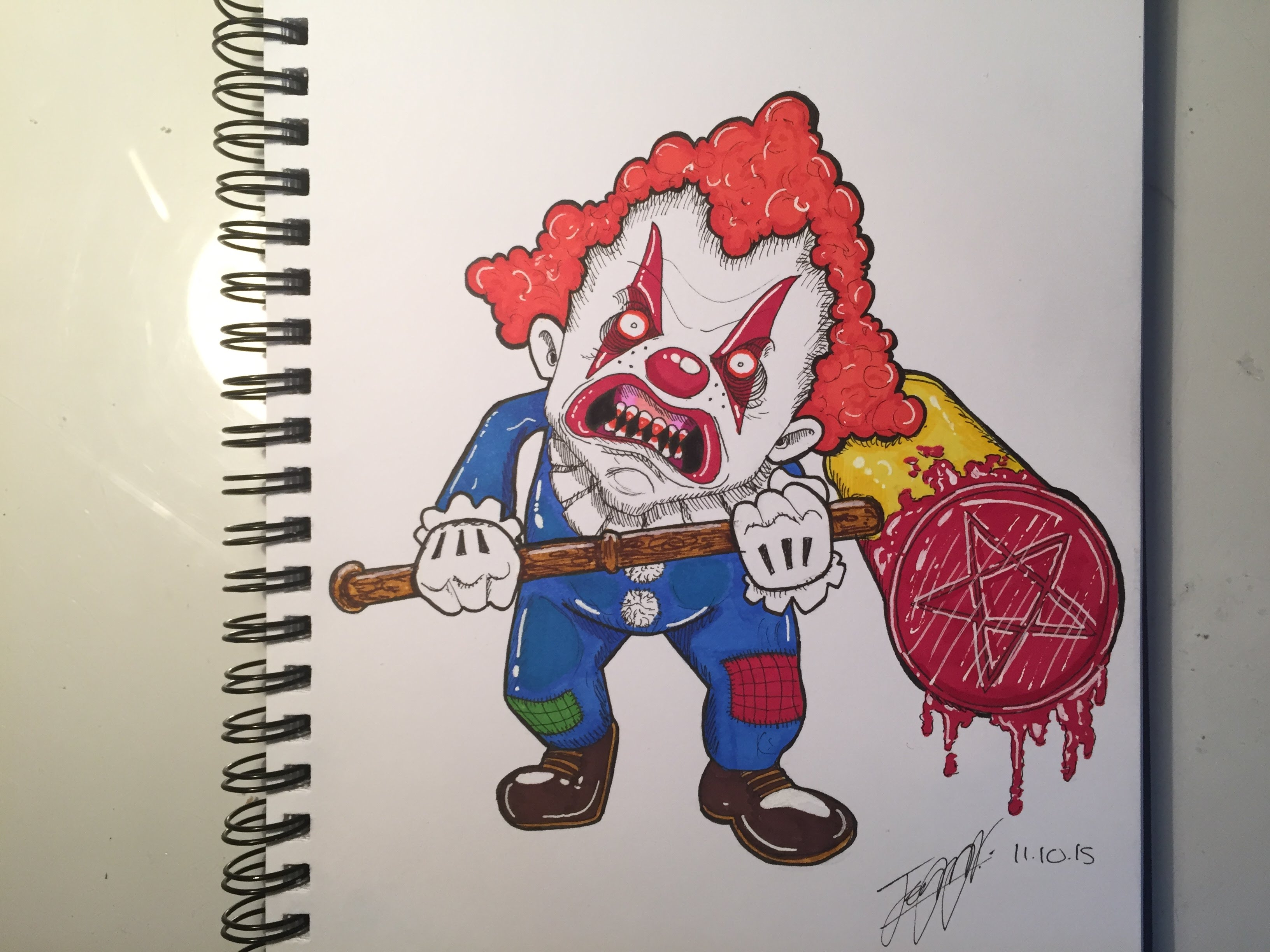 3264x2448 Scary Clown Drawing