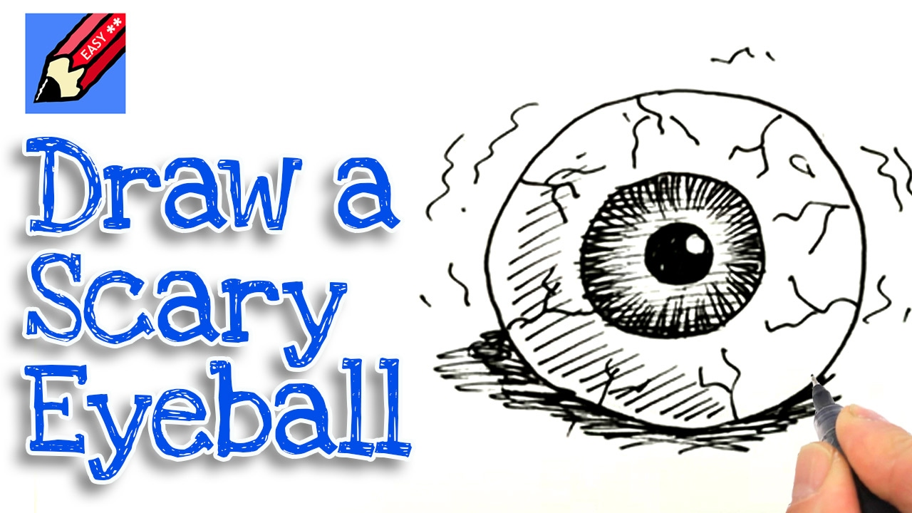 1280x720 Learn How To Draw A Scary Eyeball Real Easy For Kids And Beginners