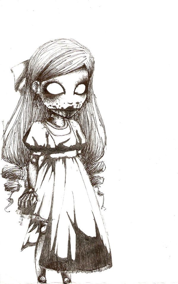 Creepy Girl Drawing At Getdrawings Com Free For Personal Use