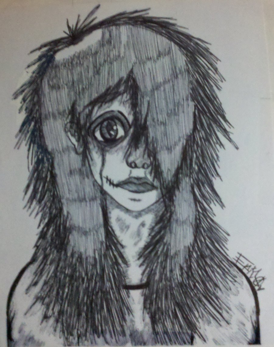 900x1137 Creepy Girl Drawing Creepy Anime Drawings Creepy Anime Girlemoed14