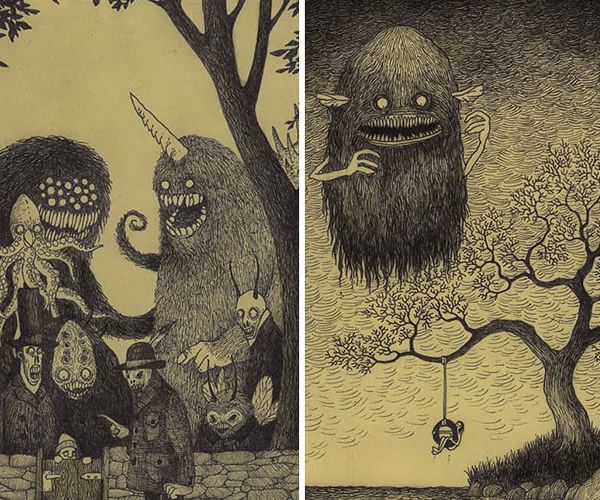 600x500 20 Best Creepy Images On Monsters, Monster Drawing