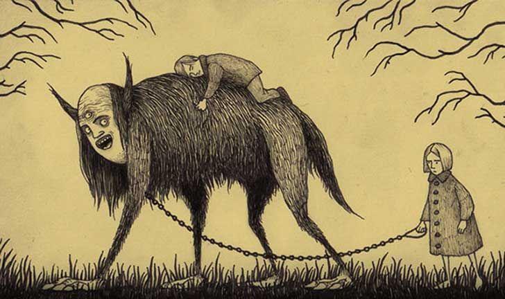 728x432 Artista Hace Dibujos De Monstruos Aterradores En Notas Adhesivas