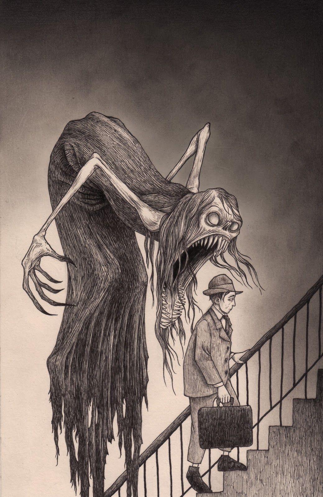1039x1600 Freaky Illustrations By John Kenn Art Sites, Monsters And Creepy