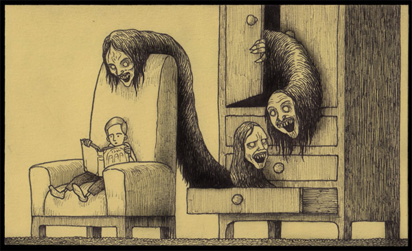600x365 Monster Drawings By Don Kenn Monsters, Drawings And Creepy