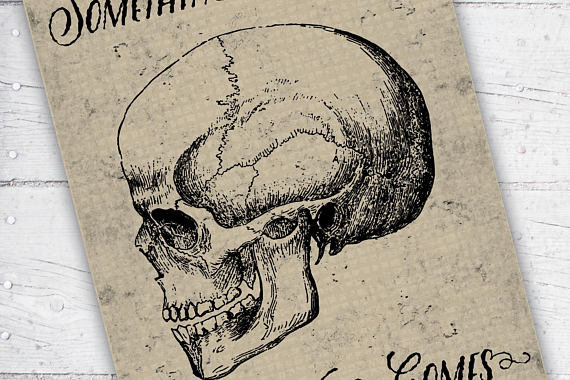 570x380 Something Wicked This Way Comes Creepy Skull Illustration