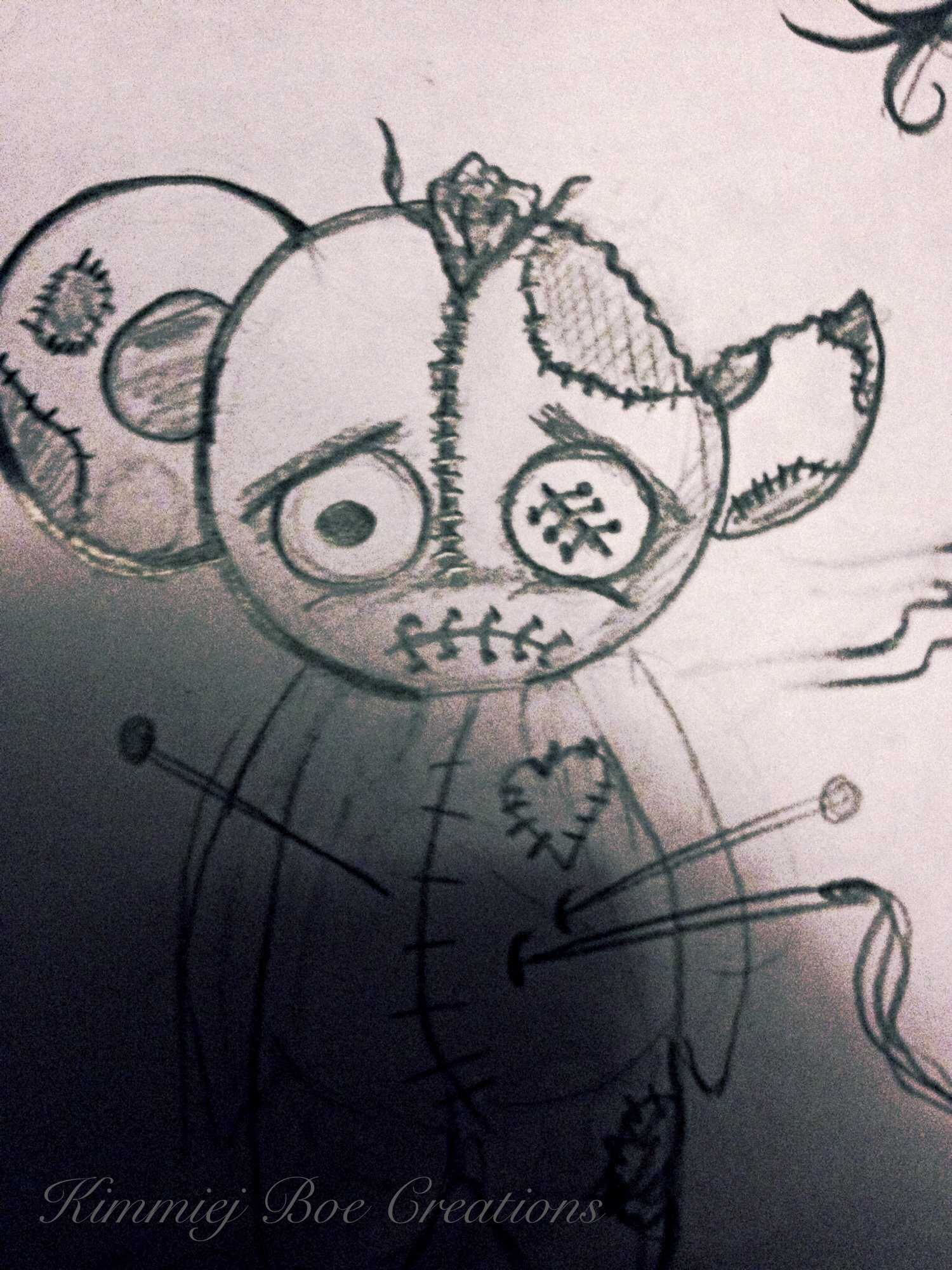 1500x2000 Drawing Bear, Teddy, Voodoo Bear Diy Creepy Voodoo