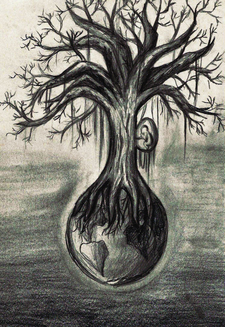 746x1083 Scary Tree Drawing