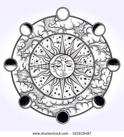 428x470 Drawn Sunlight Crescent Moon 3455442