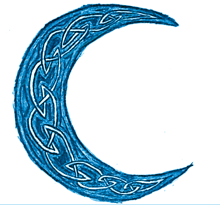 441x411 Blue Crescent Moon By Emilyroseforreal