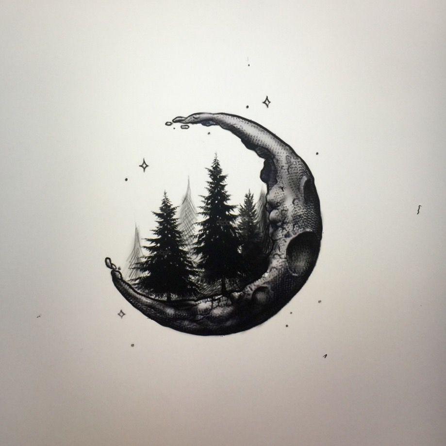 919x919 Crescent Moon Ink Crescents, Moon And Tattoo