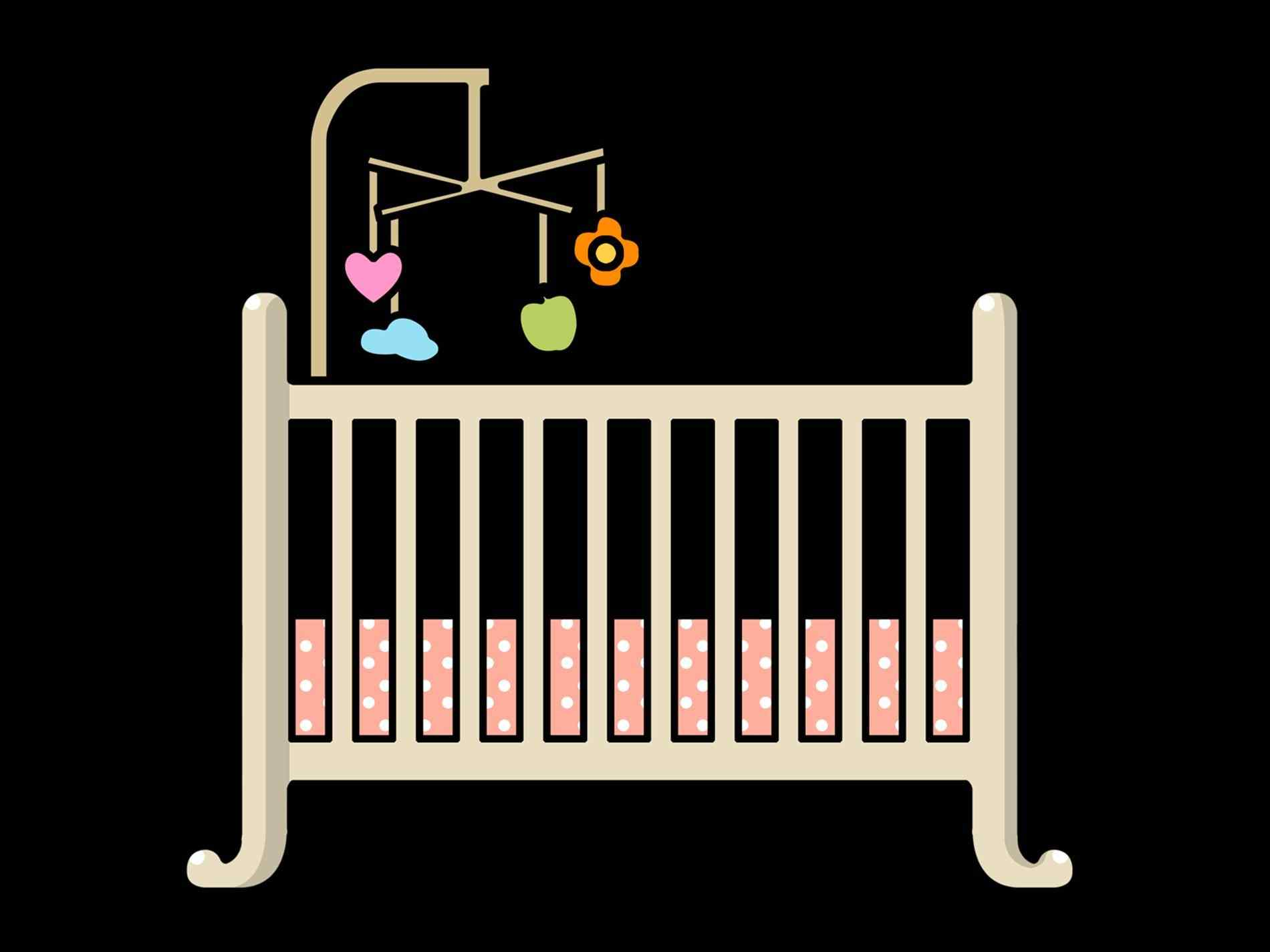 1900x1425 Baby Bed's Page Glumme Coloring Crib For Baby Drawing Pages