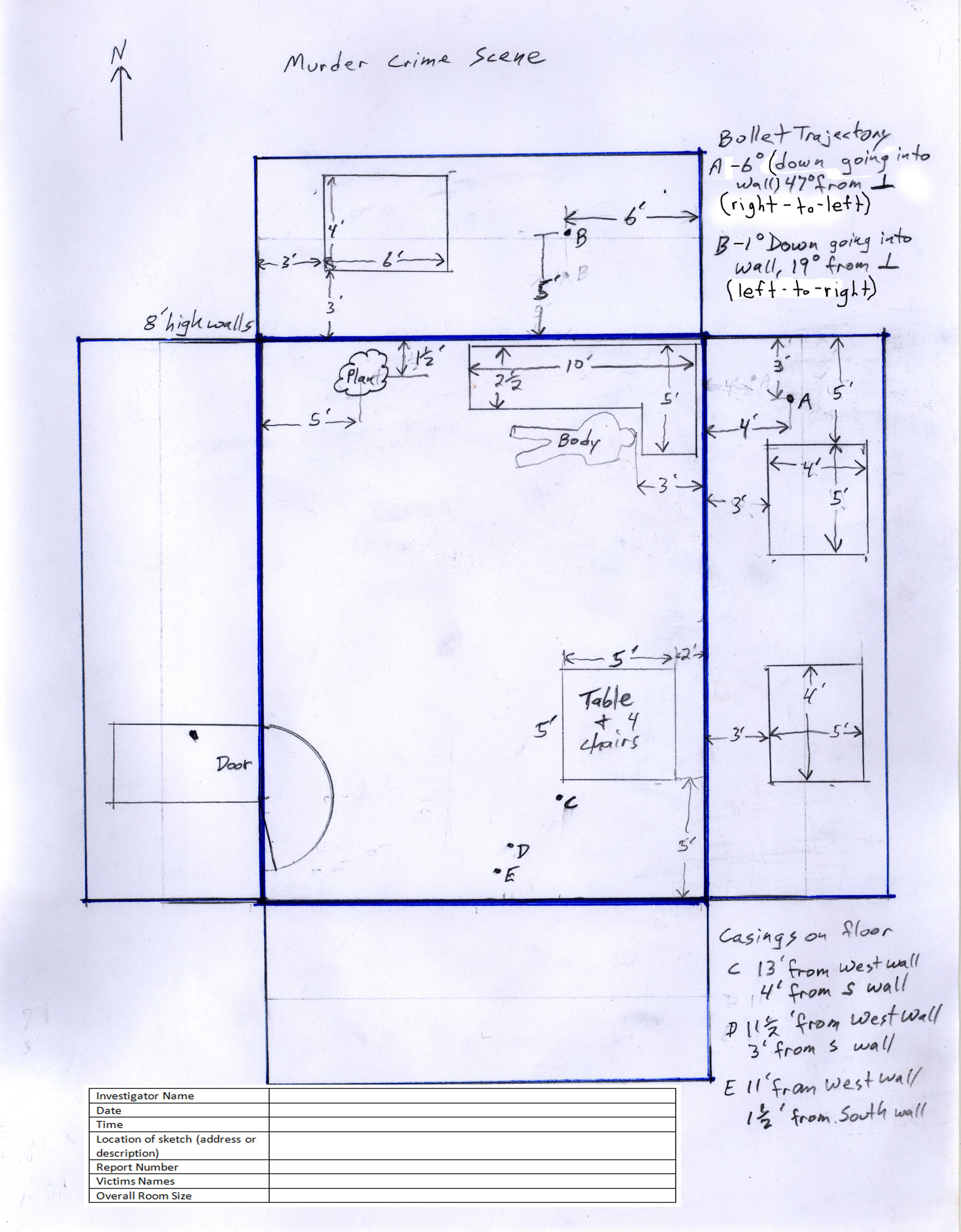2547x3266 Crime Scene Sketch Autocadrevit The Design Build Academy