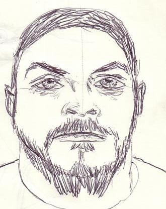 330x416 Criminal Sketch As Usual, The Eyes Are Too Big. Alston Adams